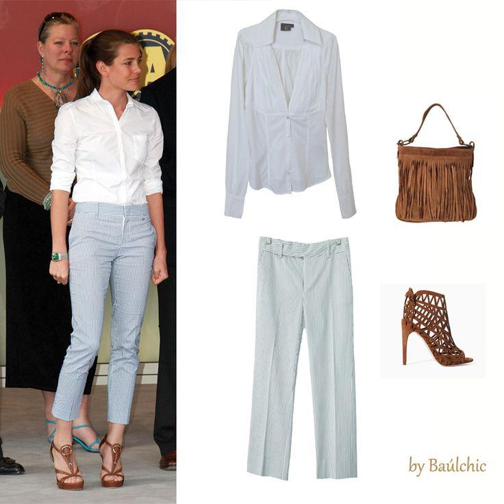 El #estilo y la #elegancia siempre presente en Carlota Casiraghi. Consigue su #look: pantalones capri y camisa blanca en nuestro baúl de #lujo #SecondHand que podrás combinar con nuestro #bolso de #flecos de #nuevascolecciones de #ADDesign. http://www.baulchic.com/…/358-pantalon-adolfo-dominguez.html http://www.baulchic.com/e-s…/333-camisa-roberto-cavalli.html http://www.baulchic.com/new-…/450-bolso-serraje-camel-m.html #moda #estilo #fashion #style…