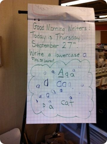 Word Work, Math Bags, Morning Message and Beads