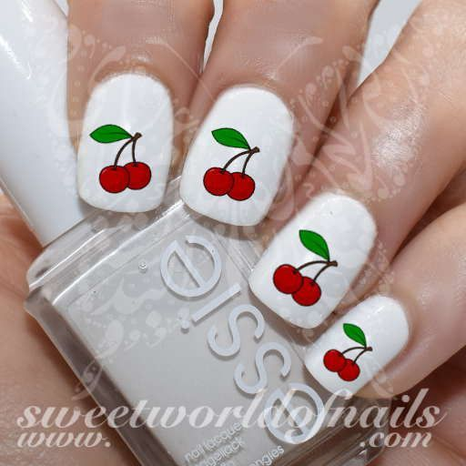 Cherry Nail Art Cherries Nail Water Decals Water Slides - Πάνω από 25 κορυφαίες ιδέες για Cherry Nail Art στο Pinterest