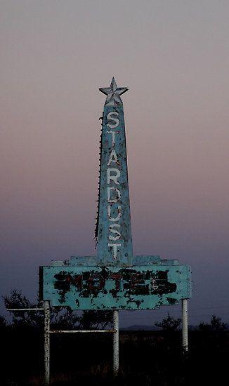 Stardust Motel neon sign - Marfa, Texas