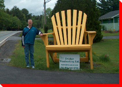 Adirondack Chair found in Bridgewater, Nova Scotia