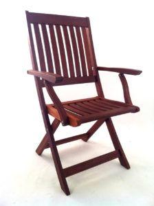 Fold Up Wooden Garden Chairs