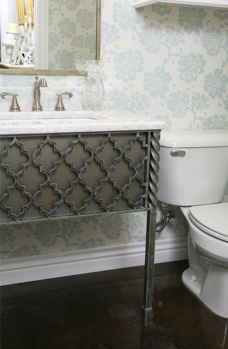 Best Wrought Iron Bathroom Vanities Images
