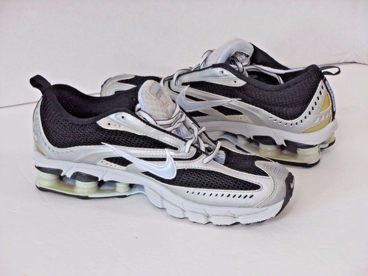 NIKE SHOX-Zoom Air-Women's Stability Running Shoe Size 9 Navy Blue & Silver  #Nike #AthleticRunningWalking