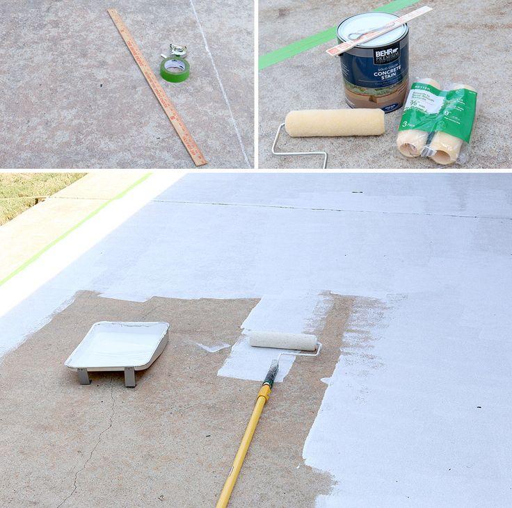 DIY Stenciled Concrete Rug
