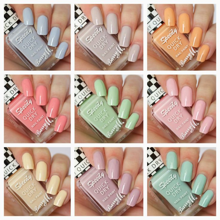 Barry M Speedy Nail Paint Collection; pretty pastels for Spring 2015 - from The Naily Mail | UK Nail Art Blog