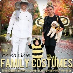 Creative DIY costume ideas for families with babies and small children.