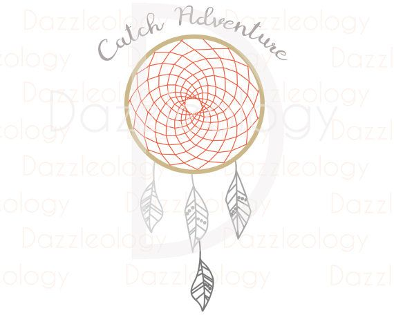 Dazzleology - Catch Adventure - Dreamcatcher Cuttable file SVG feathers native american dream catcher lotus henna indian tribe feather wild Cuttable