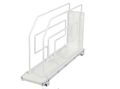 Roll Out Cooking Tray Divider Cabinet Organizer, Kitchen Storage Rack Holder NEW