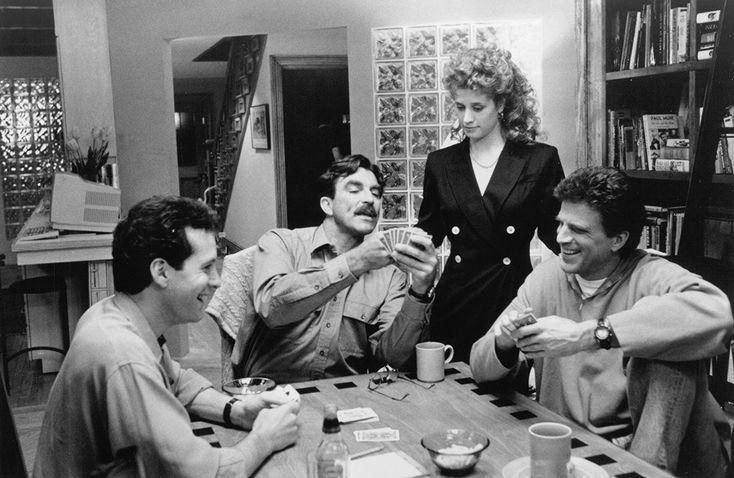 Steve Guttenberg, Tom Selleck, Ted Danson, and Nancy Travis in 3 Men and a Little Lady (1990)