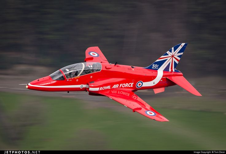 Royal Air Force (RAF) British Aerospace Hawk T.1 - Low level BAE Hawk T.1 Red Arrow. The Reds had been at RAF Valley for the day and each transited through the Mach Loop in Wales before RTB at RAF Scampton.