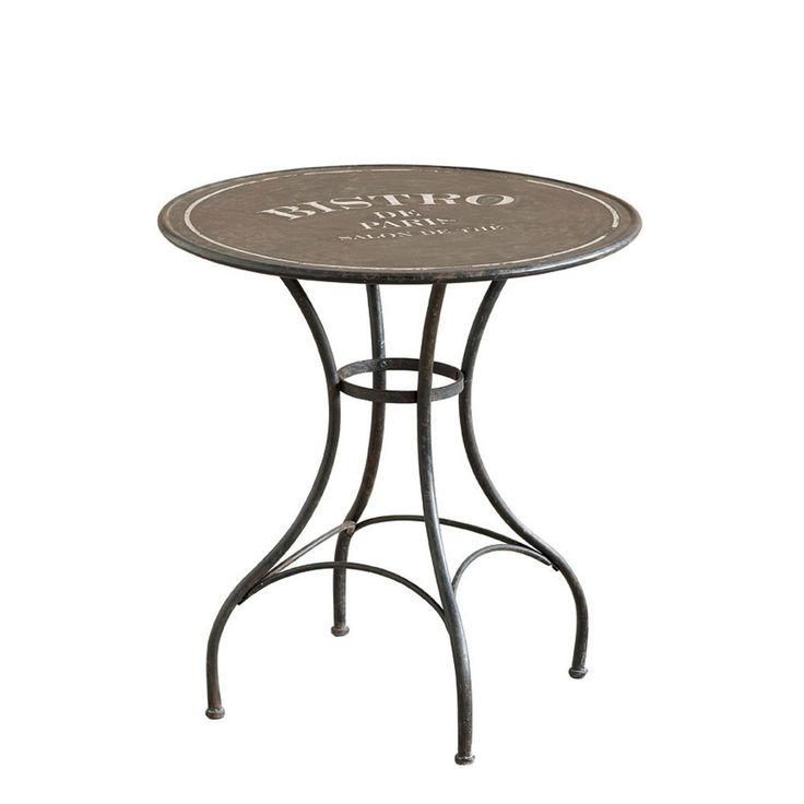 modern french bistro table and chairs | Occa Vintage Furniture Metal Bistro Table | Occa-Home.co.uk