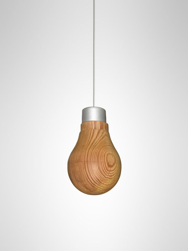 No, you're not hallucinating: Designer unveils wooden light bulb  Marrying traditional Japanese craft techniques and energy-efficient lighting technology, designer Ryosuke Fukusada creates an LED bulb wrapped in a thin wooden shell that, yep, glows.