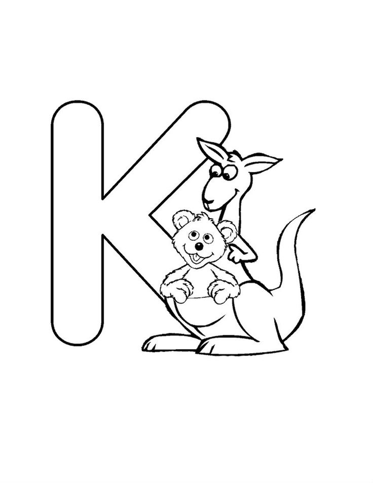 Funny Alphabet With Letters K