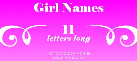 letter a name for girl big list of names that are 11 letters each name 12003