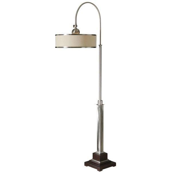 Uttermost Amerigo Brushed Aluminum Floor Lamp 1 310 Brl