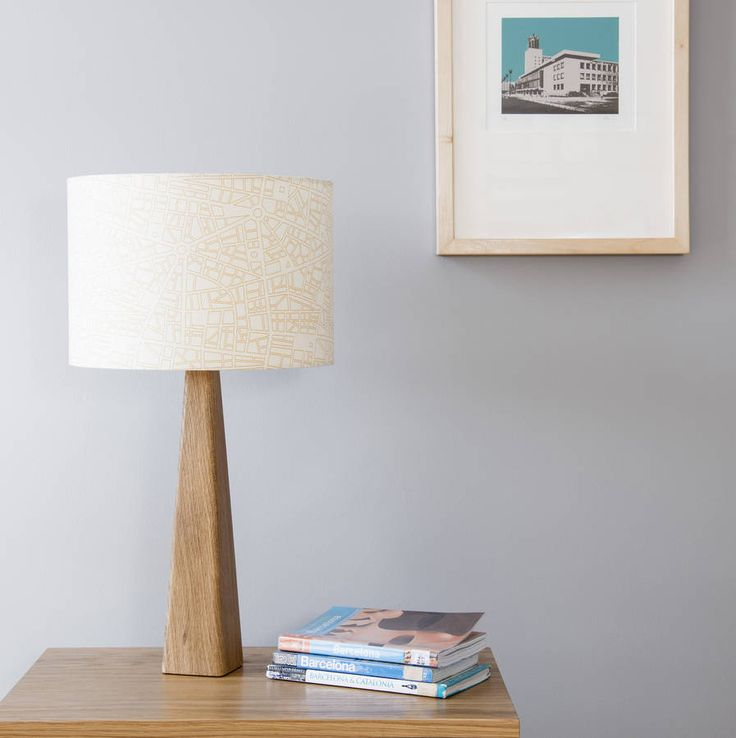 Barcelona City Map Lamp And Shade