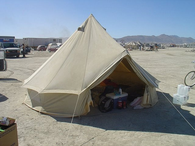 Sibley / Bell tent - burning man by CanvasCamp.com, via Flickr