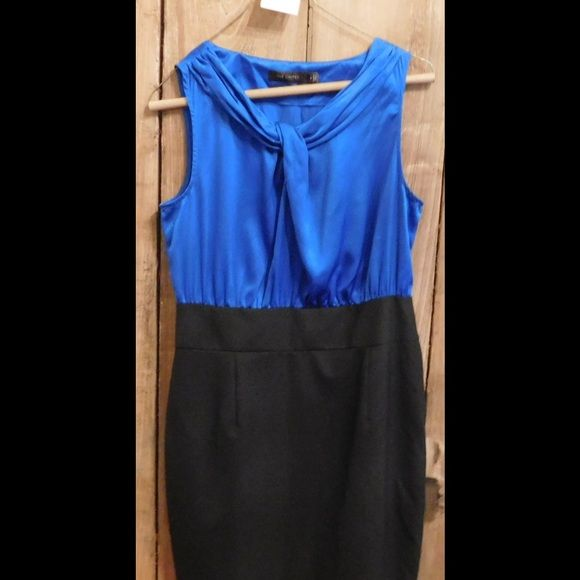 The Limited Dress - Never worn sleeveless dress The Limited - never worn - royal blue and black dress. Fits perfect. The Limited Dresses