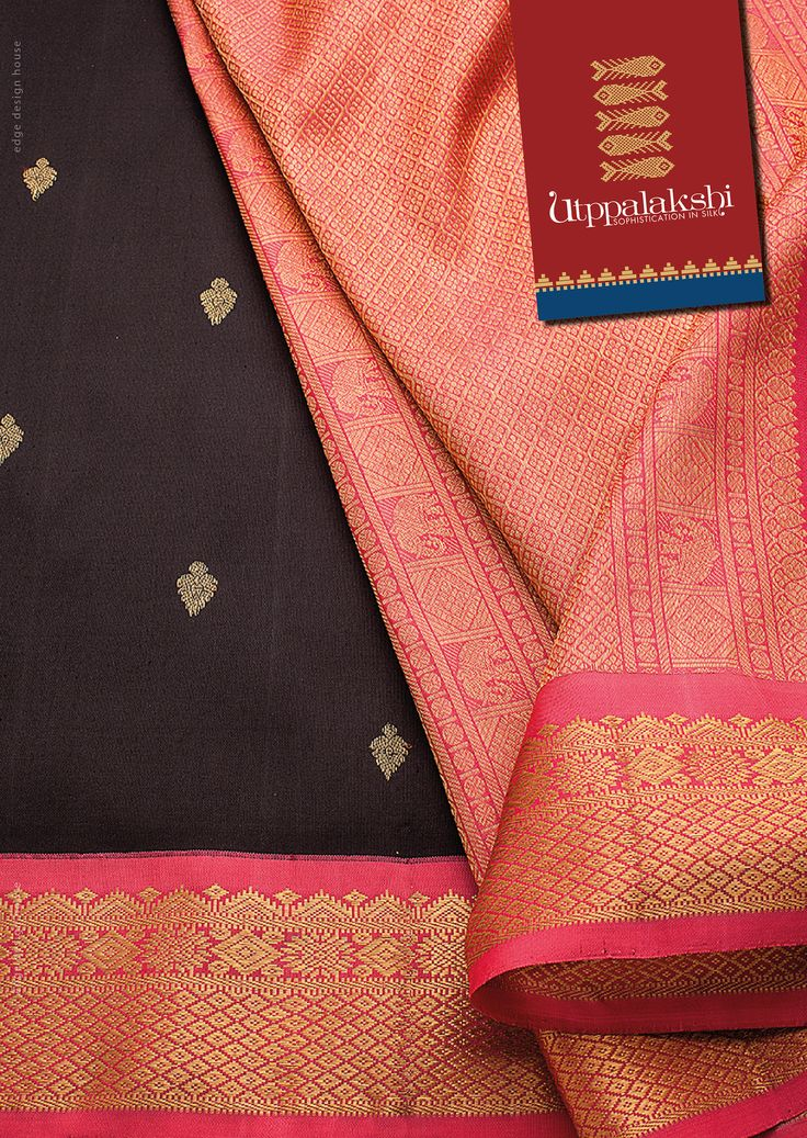 Elegant Kancheevaram saree with a contrasting colour combination giving it a complete look.