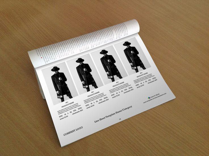 Men Fashion Line Sheet Template