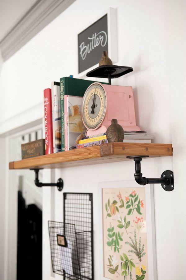 indiana DIY kitchen shelf....add to kitchen for cookbooks