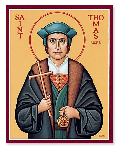 St Thomas More-The King's good servant, but God's first. I find him so inspiring.