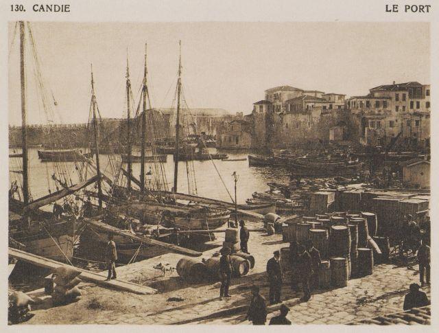 Το λιμάνι του Ηρακλείου. Candie. Le port. 1919 BAUD-BOVY, Daniel, BOISSONNAS, Frédéric. Des Cyclades en Crète au gré du vent, Γενεύη, Boissonnas & Co, 1919.Βιβλιοθήκη Ιδρύματος Αικατερίνης Λασκαρίδη