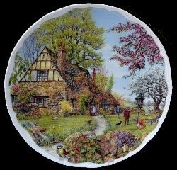 Royal Albert - Dream Cottages - Collector Plates- Spring