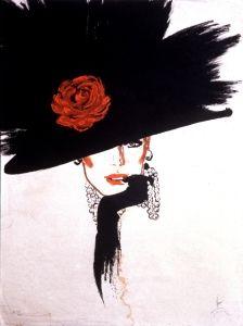 Rene Gruau fashion illustrator born Renato Zovagli Caminate Ricciardelli, 1909 in Rimini Www.hotelcristallorimini.com