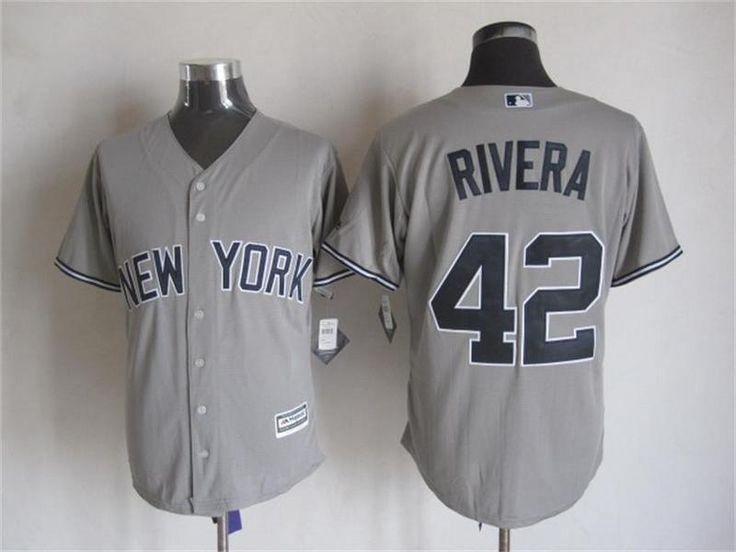 53af87726 ... COOL BASE ROAD JERSEY NEW Mens MLB New York Yankees 42 Mariano Rivera  Gray Away Road 2015 ...