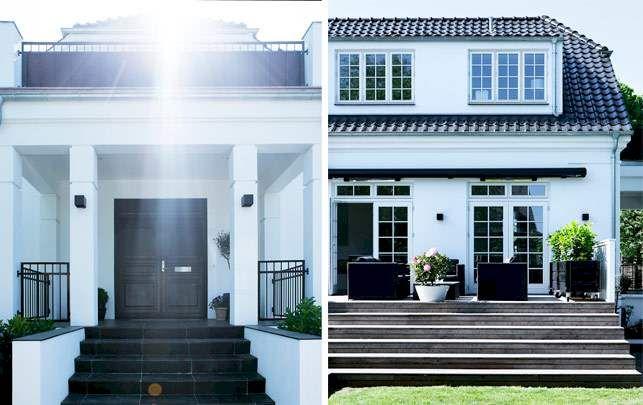 Udefra ligner det en villa fra 1920'erne, men indvendigt flyder det med lys, luft og enkle linjer. Kom med indenfor i Marianne og Peter Lindblads spritnye patriciervilla med topmoderne indretning i sort og hvidt.
