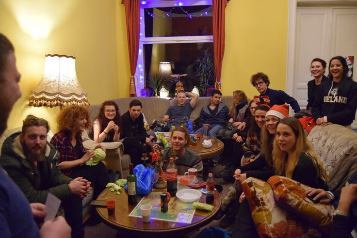 crowd-new years Transylvania hostel