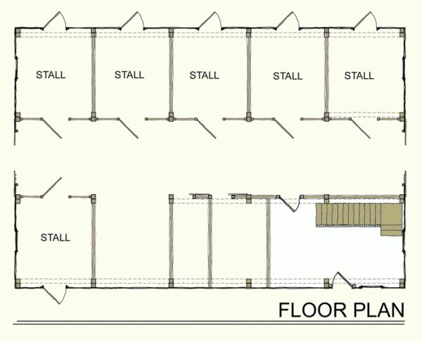 Horse barn plans 1 barn building asian cowgirl for Equestrian barn plans