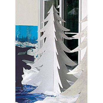 Our exclusive White Fur Tree will add a touch of magic to any winter wonderland scene. Each cardboard White Fur Tree prop has a reflective iridescent shine.