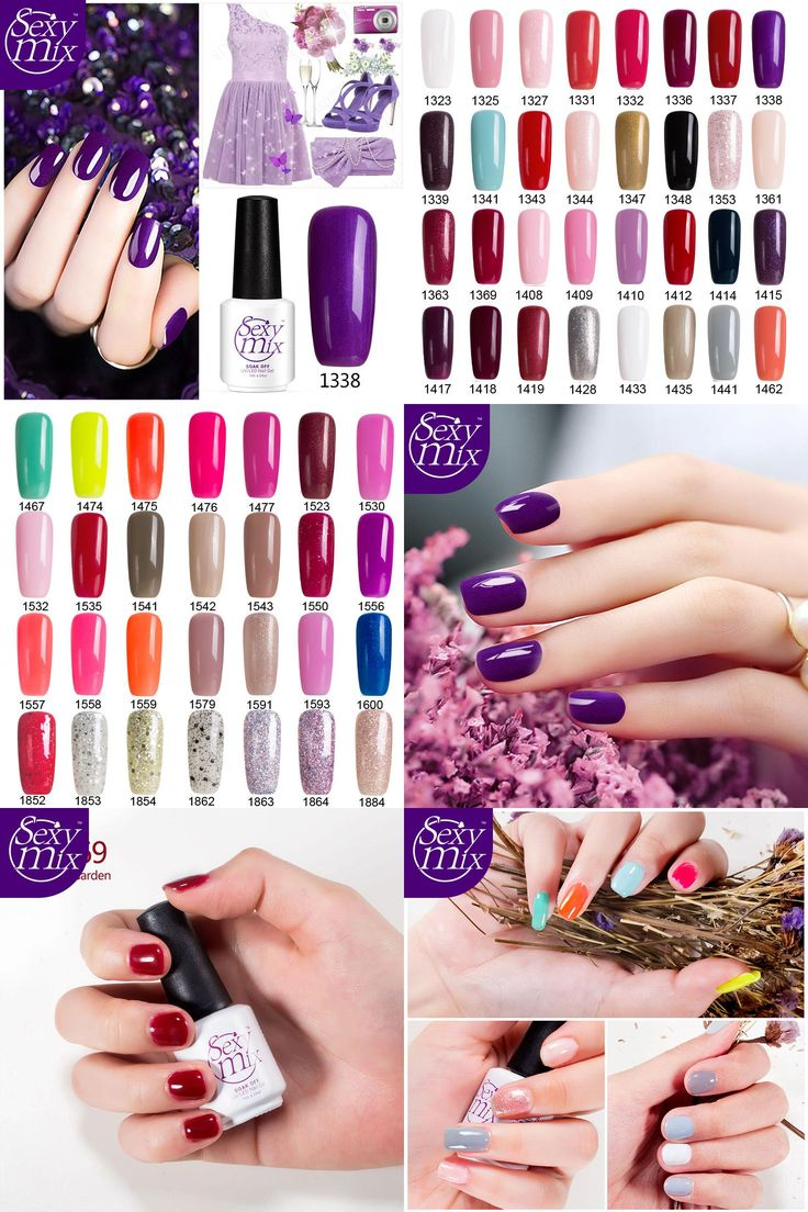 [Visit to Buy] Sexy Mix Purple Nail Gel Varnish 7ML French Manicure Hybrid Lacquer Hot Sale Nail Gel Paint Soak off Cheap Nail Gel Polish #Advertisement