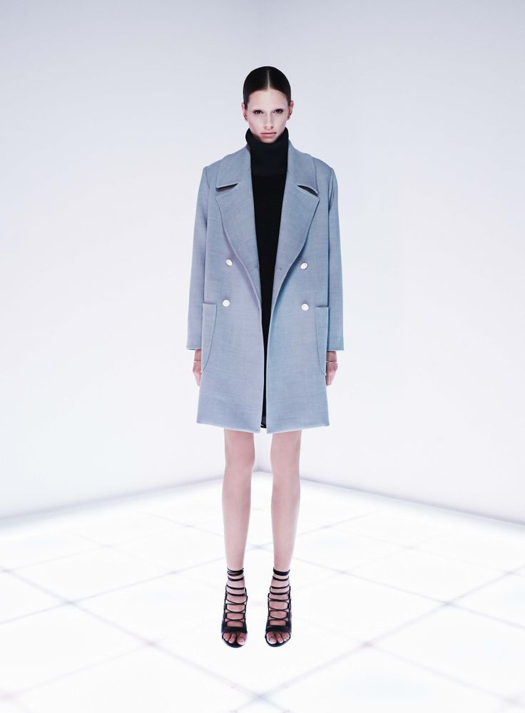 Grayscale Trench by CAMILLA AND MARC http://www.camillaandmarc.com/grayscale-coat-grey-marle.html
