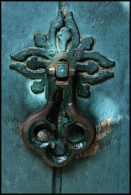 Teal Door Knocker