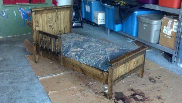 Farmhouse Toddler Bed   Do It Yourself Home Projects from Ana White