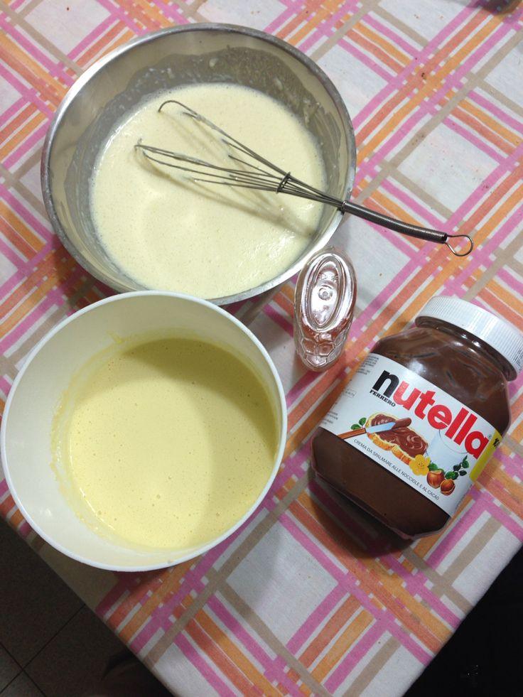 Getting ready for pancake day... A crepe batter and a pancake batter...