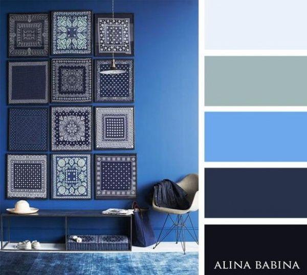 15 Combinaciones ideales de colores para interiores - azules