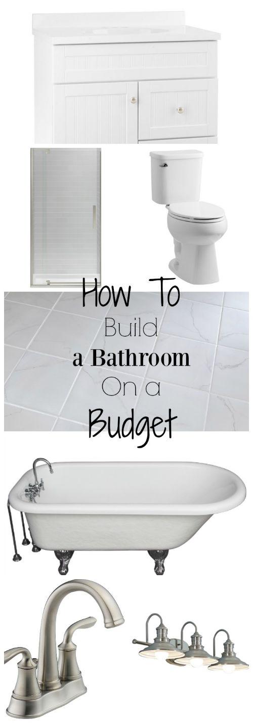 How To Build A Bathroom On A Budget