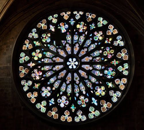 Church Rose Window   Panoramio - Photo of Stained-glass rose window of church of St. Mary ...