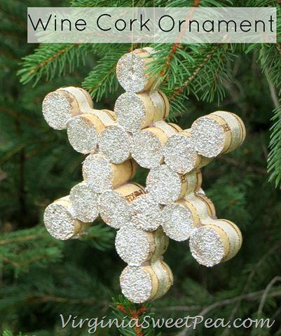 Wine Cork Christmas Ornament by VirginiaSweetPea.com