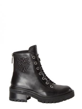 Kenzo-stivaletti in pelle-leather ankle boots-Kenzo shop online