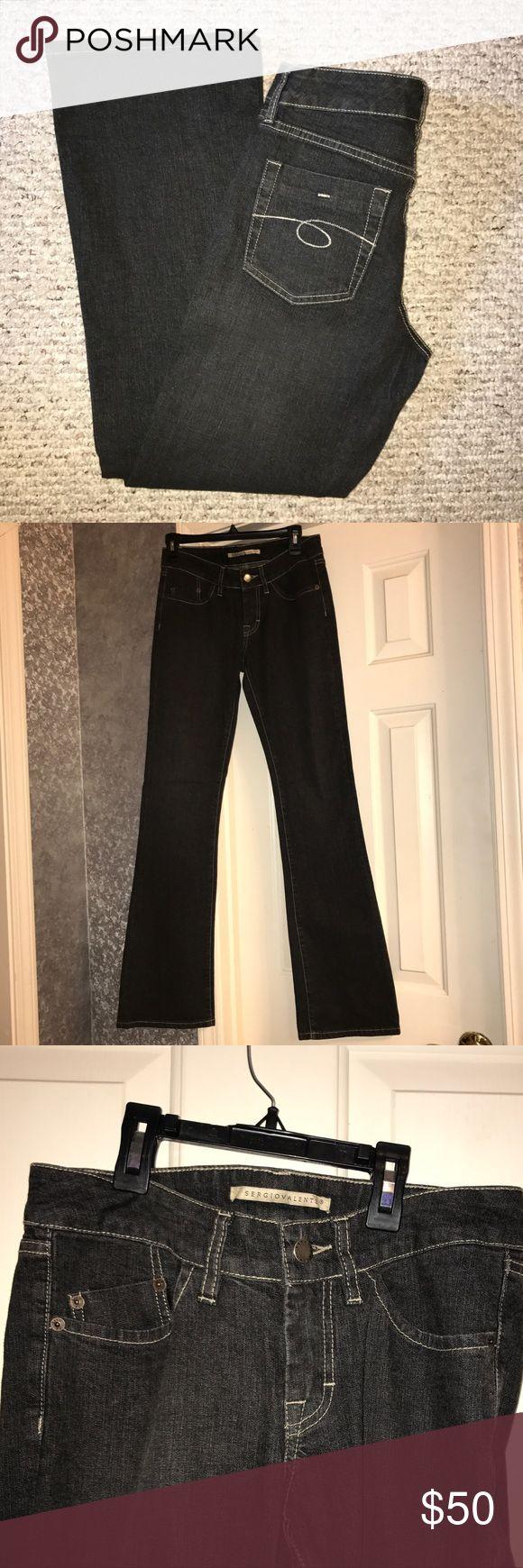"""🆕EUC 💙SERGIO VALENTE💙Black Flare leg Jeans 🆕EUC 💙SERGIO VALENTE💙Black Flare leg Jeans. Size- 27. Cotton / Lycra. five pocket design. Zip fly with button closure. Inseam- 34"""". Rise- 7"""". Original cost $150 Sergio Valente Jeans Flare & Wide Leg"""