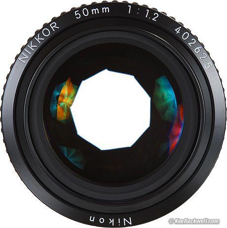 Nikon 50mm f/1.2 diaphragm