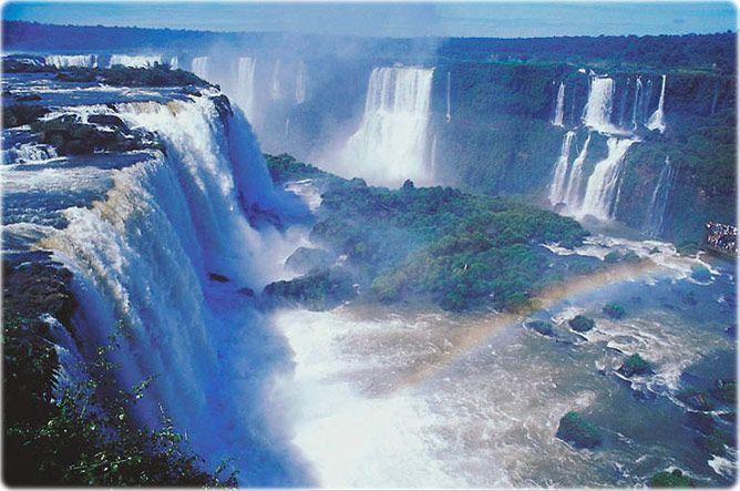 Iguazu Falls, or Foz do Iguacu, if you prefer.  Brasil/Argentina border.  Truly spectacular.
