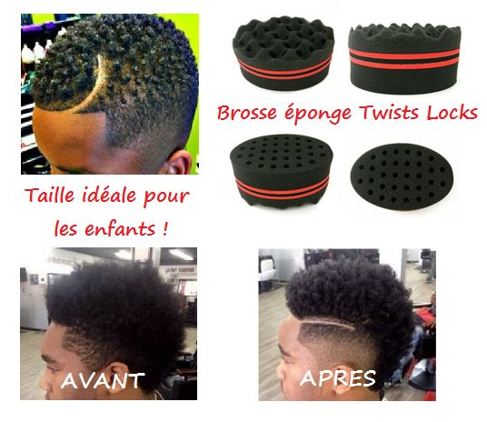 Eponge en mousse structurante TWISTS LOCKS CURLY BI-FACE VAGUES