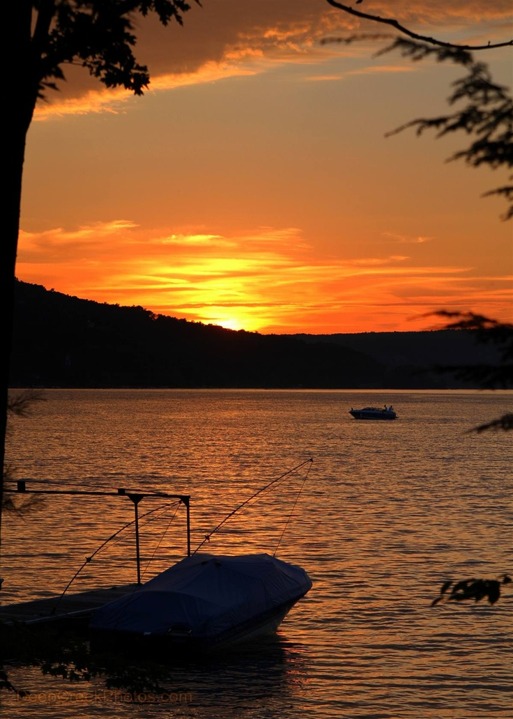 Maryland in Focus:  Sunsets at Deep Creek Lake are hard to beat.  Photo by Bob Carney.